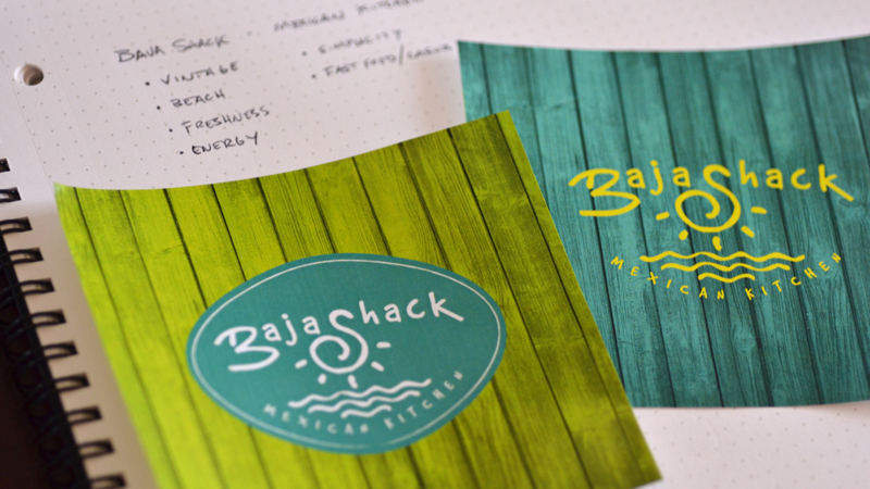 Raleigh Logo Design Case Study Baja Shack Logo